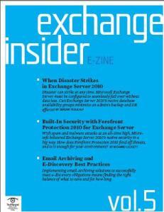 Exchange Insider E-Zine When Disaster Strikes Exchange Server 2010