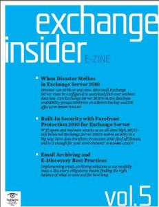 Exchange Insider E-Zine When Disaster Strikes Exchange Server 2010