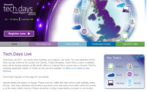 Microsoft TechDays 2011 London