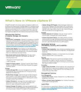 Whats New in vSphere 5
