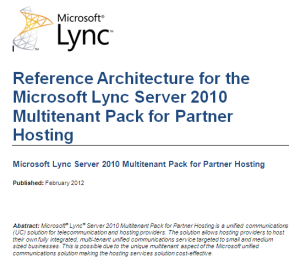 Lync Multi-tenant Reference Architecture