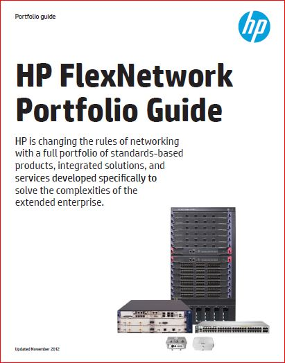 HP FlexNetwork Porfolio Guide