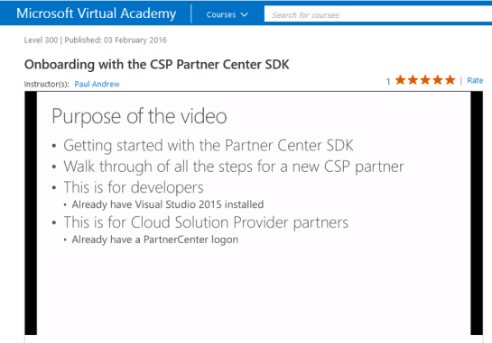 Onboarding with the CSP Partner Center SDK #2
