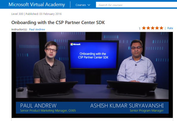 Onboarding with the CSP Partner Center SDK