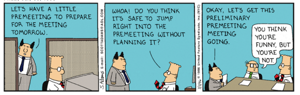 Dilbert on Meetings